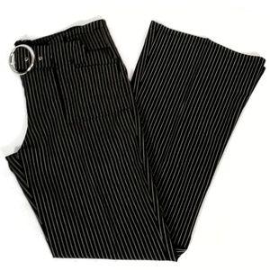 Vintage Divine Flare Pin Stripe High Waist Pants